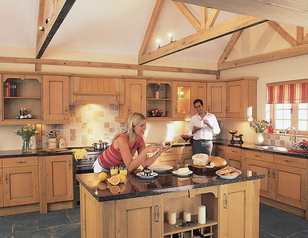 true oak kitchen