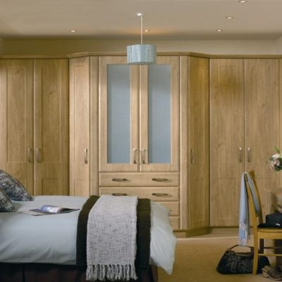 light wood bedroom