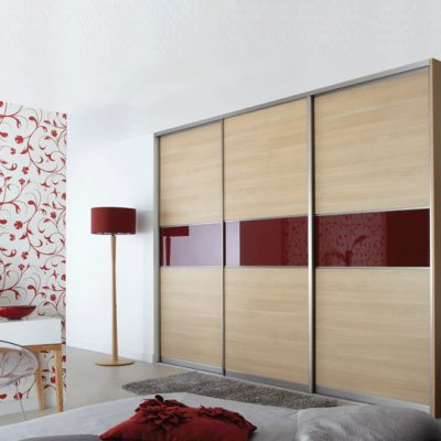 ferrara oak wardrobe with red centre