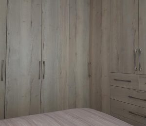 corner cupboard in a bedroom
